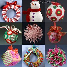 Top posts on Crafts 'n Coffee: Handmade Paper Christmas Ornaments  Christmas Ornaments for Kids ( you'll love this glittery giveaway!) | Crafts 'n Coffee