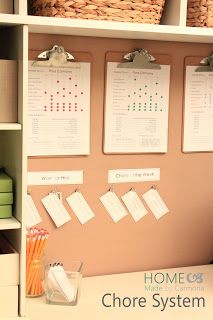 Home Made by Carmona: Chore System for the Kids