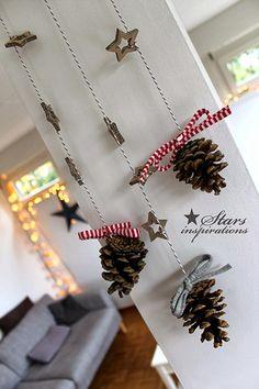 Guirnalda navideña con piñas