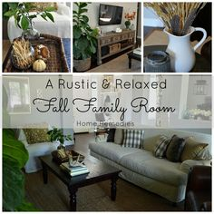 Rustic and Relaxed Fall Family Room Tour