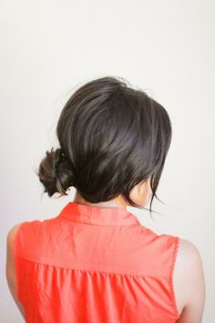 { cute, easy updo - only 2 bobby pins } #hair #updo #longhair