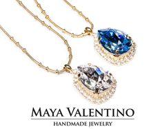 Swarovski Necklace Swarovski crystals Elegant by MayaValentino