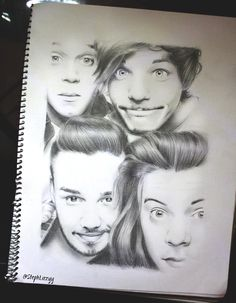 Steph ‏@StephLizzyy  New drawing of @onedirection @Harry_Styles @Louis_Tomlinson @NiallOfficial @Real_Liam_Payne  #OnTheRoadAgain2015