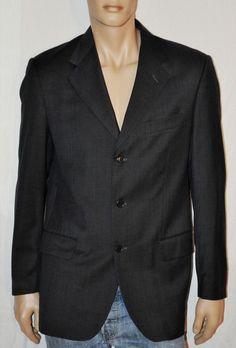 Wonderful Man High Quality All-Wool Jacket Woven in Italy Size L RODRIGO Giacca Classica Uomo Color Grigio Scuro Foderata Taglia 50 Perfetta di BeHappieWorld su Etsy