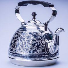 Серебряный чайник для кипятка