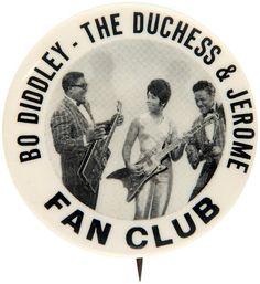 BO DIDDLEY - THE DUCHESS & JEROME FAN CLUB - Button Pin Badge Pinback Fridge Magnet & Mirror by BeatGorilla