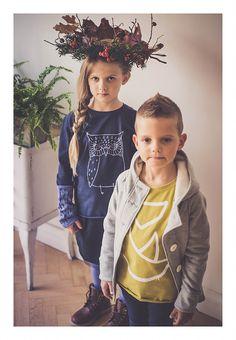Originální dětské oblečení se skandinávským nádechem navržené a ušité v Česku. Vyrábíme trička, mikiny, tepláky, legíny, sukně, šaty, čepice, šátky.