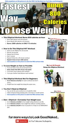 40 minute HIIT Elliptical Workout = Fastest way to lose weight