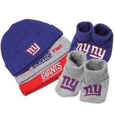 Gerber New York Giants Infant 5-Piece Beanies & Booties Set