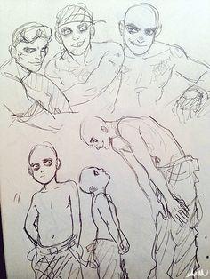 AM art: War Boys, War puppies, Slit/Nux sketches I'm loving them so much! <3
