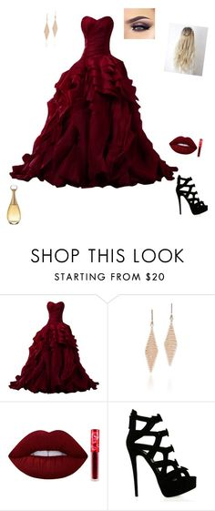 """""""Untitled #194"""" by shorttii on Polyvore featuring Tiffany & Co., Lime Crime, Giuseppe Zanotti and Christian Dior"""