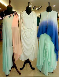 Subtle yet bright colour, pastels, fusion outfits
