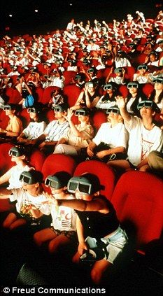 cinema audience watching 3D