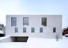 Fourfoursixsix uses aerated concrete for a Swedish house