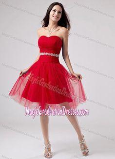 2ee45084d53 Red Strapless A-Line Knee-length 5th Grade Graduation Dresses in Emmitsburg  Designer Prom