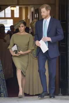 Meghan Markle Wore A New Color to Prince Louis' Christening- HarpersBAZAAR.com