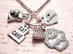 Eat cake cupcake  charm holder  necklace by MyTinyTemptations. Don't look Sarah. lol
