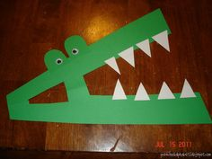 A really is for Alligator. Can't wait to do this with my twins! :) Jodi from The Clutter-Free Classroom {www.CFClassroom.com}