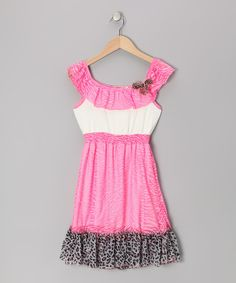 Take a look at this Fuchsia Meow Meow Zebra Dress - Toddler & Girls on zulily today!