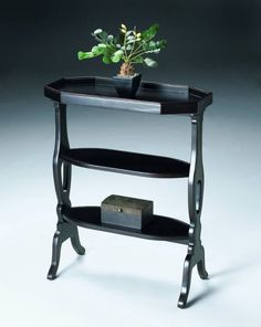 Artists Originals Hadley Transitional Plum Black Accent Table