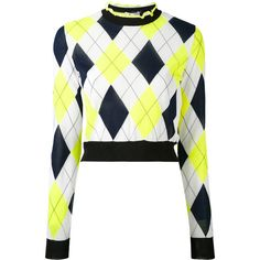 MSGM diamond patterned top (38.385 RUB) ❤ liked on Polyvore featuring tops, crop top, white, harlequin top, cut-out crop tops, white crop tops, cropped tops and white tops