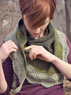 Ravelry: Brush Creek Shawl pattern by Carina Spencer. In stock at The Yarn Club.