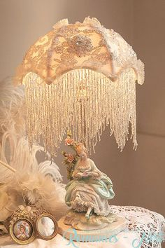 Victorian Lamps, Half Dolls, Vintage Lamps, Lampshades, Vanities, Victorian Fashion, Little Things, My Dream Home, Shabby