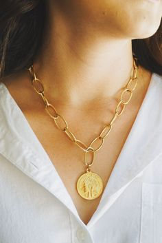 GOD is dope mixed metal brass necklace