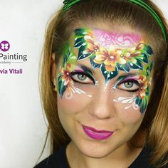 Flowers_face painting by Silvia Vitali_www.facepainting.academy