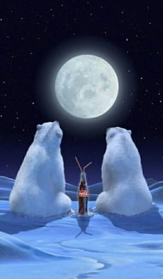 Coca Cola Bears Full Moon !!
