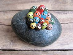 """vintage pet rock gathering - mine had the words """"rock concert"""" painted on it, hehe."""