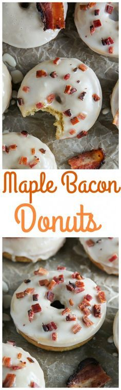 If you love sweet and salty these Maple Bacon Donuts are a must try!!! Baked, not fried, and ready in 20 minutes.