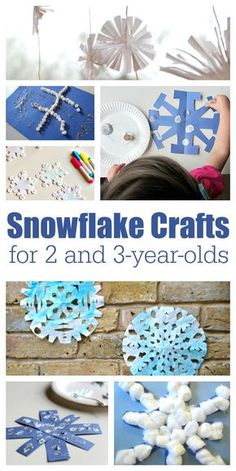 Celebrate winter with these easy snowflake crafts for 2 and 3 year olds. These easy winter crafts are perfect for stay at home parents and preschools!