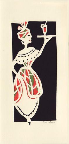 madras vert rouge. Carte découpée main Illustration, Ethnic, Creations, Playing Cards, Art, Art Background, Playing Card Games, Kunst, Illustrations