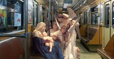The Ukraine-based artist marries the subjects of Renaissance paintings with urban settings for his series 'The Daily Life of Gods'.