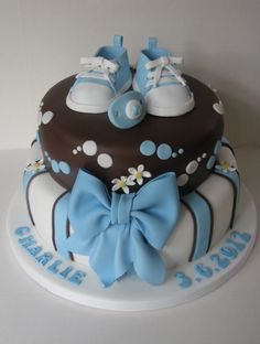 For a Boys Baby shower if I were having one, lol! Love this cake just need to double the shoes!