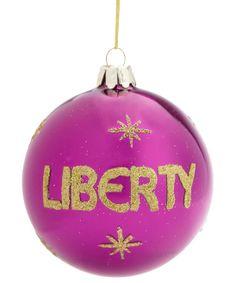 PINK LIBERTY BAUBLE, £4.95. #libertychristmas #bauble #christmastree