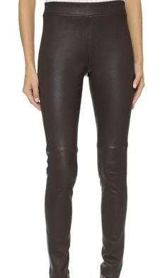 89e7bfc4691 Theory Adbelle Leather Pants Black - Size 4 - NWT New  995  fashion   clothing