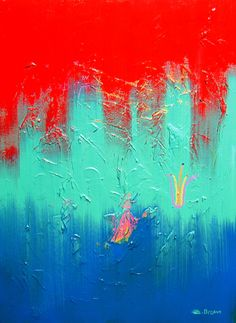 Color/ Abstract- Sans the flower, I like the contrast between the complimentary teal/blue and the hard, primary red.