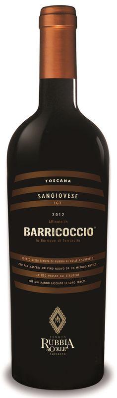 Barricoccio - Sangiovese e Ciliegiolo - Rubbia al Colle #vino #naming #packaging #design #wine
