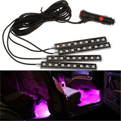 Car Interior Light Strips LED Waterproof Neon Decoration Lamp for Benz Audi BMW #UnbrandedGeneric