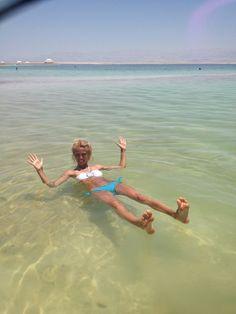 Dead Sea Beach (חוף ים המלח) in עין בוקק, הדרום