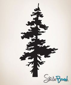 Vinyl Wall Decal Sticker Single Pine Tree #187 | Stickerbrand wall art decals, wall graphics and wall murals.