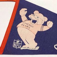 GAMEDAY! Vintage Chicago Bears pennant...like whoa #Bears #Chicago #chicagobears #football #illustration #vintage #design #pennant #spikeshigh #SPORTS! by spikes_high