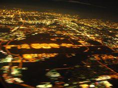 Landing at night...