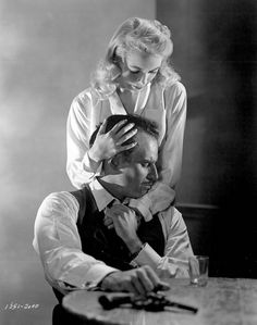 Charlton Heston and Janet Leigh, 1958, production still from Touch of Evil