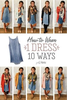 How to wear and style one chambray dress 10 different ways! This dress has been … How to wear and style one chambray dress 10 different ways! This dress has been so popular with Just Posted readers and you can style it so many different ways! Casual Outfits, Cute Outfits, Fashion Outfits, Womens Fashion, Denim Dress Outfit Summer, Winter Cardigan Outfit, Black Dress Outfits, Night Outfits, Cheap Fashion