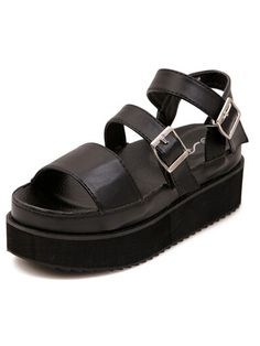 Shop Black Strappy Buckled Chunky Platform Sandals online. SheIn offers Black Strappy Buckled Chunky Platform Sandals & more to fit your fashionable needs.
