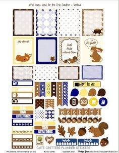 Cute Critters Planner Stickers – Free Printable