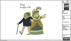 Over the Garden Wall Frog Couple Color Design All rights Cartoon Network